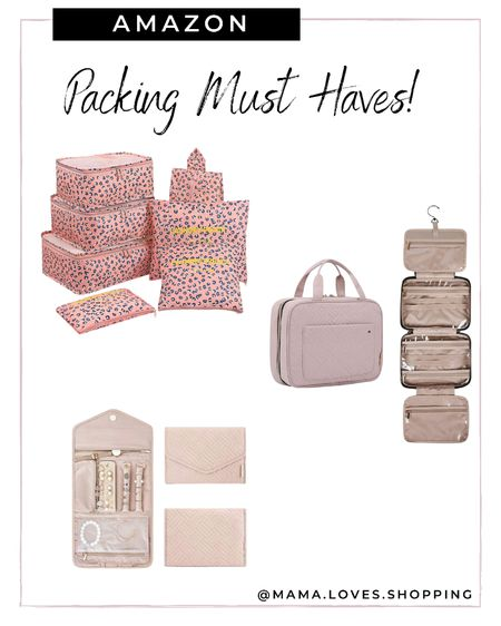 Amazon packing must haves to staying organized and semi neat when you travel! Jewelry organizer, packing cubes and toiletry bag!   #LTKbeauty #LTKitbag #LTKtravel