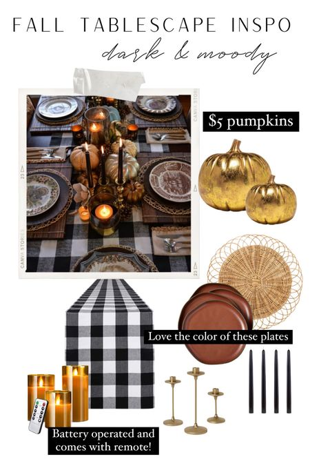 For my moody fall gals this is a stunning table scape with some staple fall pieces.   #LTKunder100 #LTKstyletip #LTKhome