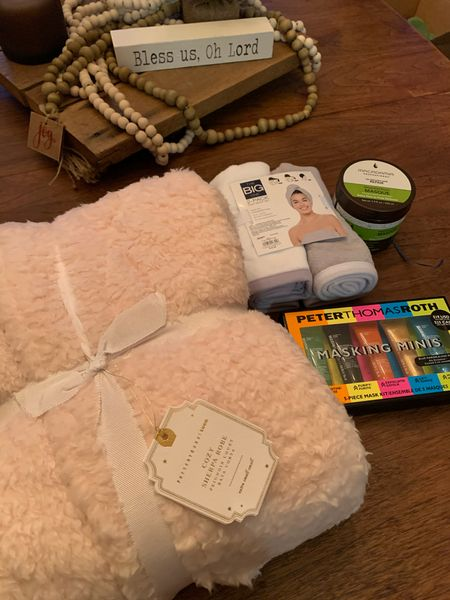 This Pottery Barn Teen robe IS so comfy.  Cant wait to use all these items for our at spa day!!!  #LTKbeauty #StayHomeWithLTK #LTKgiftspo