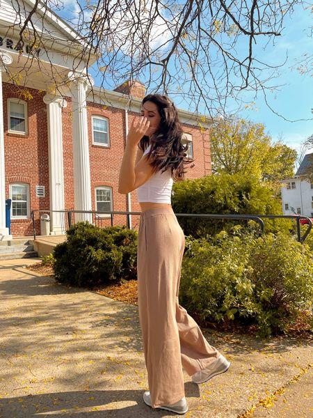 neutral fall outfit tan trousers Code KATHLEEN20 gets 15% off at BohMe!  #LTKSeasonal #LTKstyletip #LTKunder50
