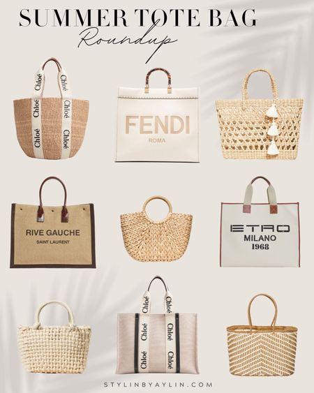 Summer tote bag, summer bags, tote bag roundup, designer bags, summer, vacation tote, StylinbyAylin   #LTKSeasonal #LTKunder100