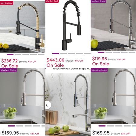 Way Day Deal— high style kitchen pull-down faucets on deep, deep, deep discount and free shipping.   #LTKsalealert #LTKhome