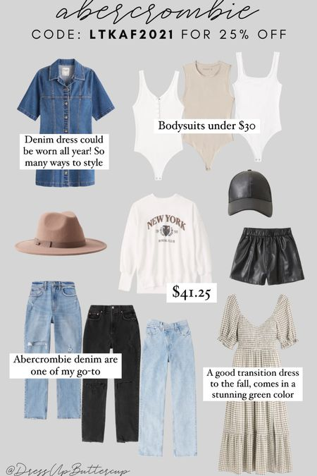 Abercrombie 25% off with code: LTKAF2021 so many good fall staples on sale & seeing a ton of leather this season!   #LTKstyletip #LTKSale #LTKunder50