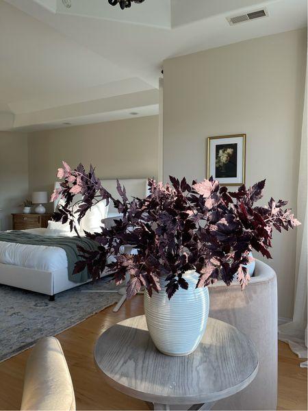 Fall stems; vase, bedding, frame, bedroom styling —   #LTKhome
