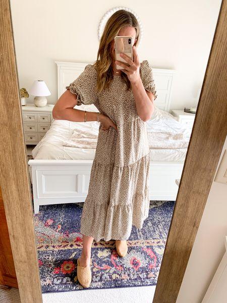 Maxi dress, fall, leopard, SHEIN, casual   #LTKSeasonal #LTKunder50 #LTKstyletip