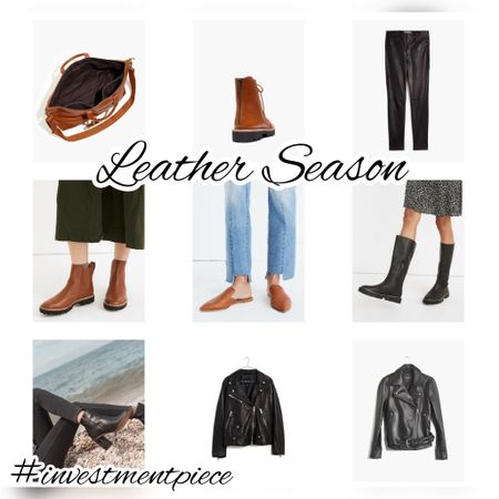It's leather season and @madewell must have pieces from jackets to pants to lug sole boots to weekend bags are 20% off when you're an insider (and signing up is free!) #investmentpiece   #LTKsalealert #LTKSeasonal #LTKstyletip