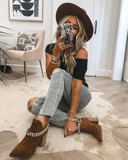 Chain booties (hottest booties of 2021) 39% off run tts 2 colors …reg $150 sale $89 Jeans sz 4 $49 when you sign in as a member tee sz small Save 15% on initial necklace code KIM15 and sitewide  Small necklace is 2 for $30 Fav hair products on sale …Olaplex  Self tanning drops for body on sale..used today   #LTKstyletip #LTKshoecrush #LTKsalealert