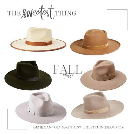 Fall Outfits, Fall Hats, Brown Wool Hat, Green Wool Hat, Fall Fashion, Emily Gemma Hats, Fall Accessories, Emily Ann Gemma   #LTKstyletip