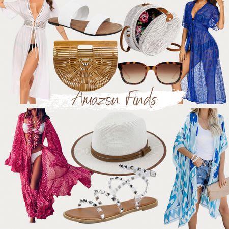 http://liketk.it/3g5YS #liketkit @liketoknow.it #LTKunder50 #LTKtravel vacation, beach hat, kimonos, swimsuit coverups, Amazon finds, Amazon fashion, sunglasses, bags, clutches, studded sandals, designer inspired sandals, summer style, spring style, found it on Amazon