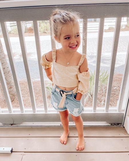 Amazon find: cutie toddler two piece outfit. Wearing size: 3T 🤍 @liketoknow.it #liketkit #LTKkids http://liketk.it/3jOCN