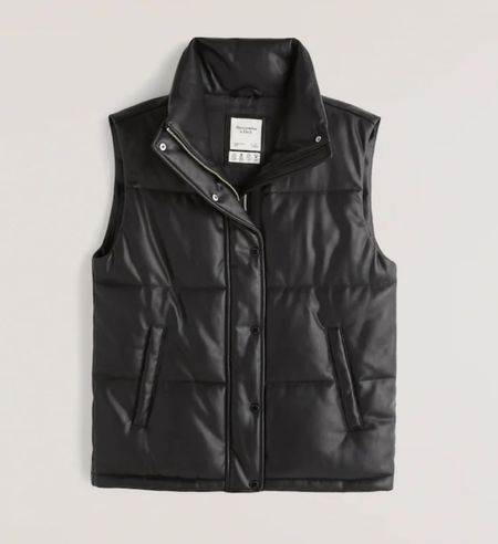 """Y'all!!! This buttery soft black vegan leather puffer vest is SOOOOO GOOD!!! And it's 25% off right now with code: """"LTKAF2021""""!!!! So it will be around $75!!!! But it's selling out fast, so if you like it, I'd def grab it quick! And it also comes in a gorgeous tan/nude color too!!! So perfect to transition to fall!!!   #LTKstyletip #LTKSale #LTKSeasonal"""