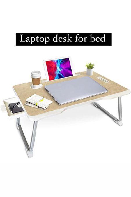 Laptop desk for bed , laptop foldable desk , laptop stand, home office   #LTKstyletip #LTKhome #LTKunder50