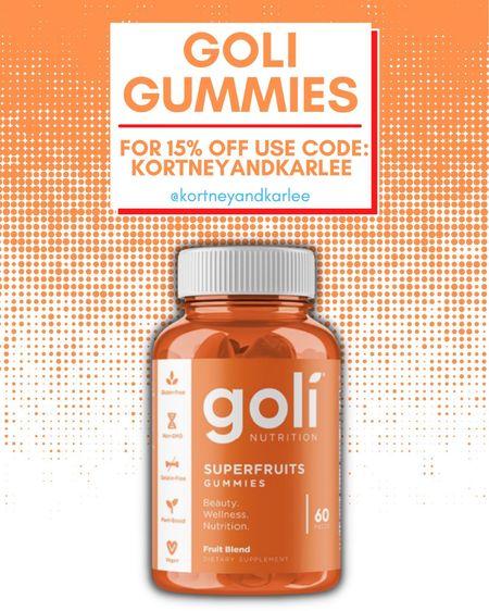 Goli Superfruits gummies! Use code KORTNEYANDKARLEE for 15% off!   Goli gummies | AVC | ACV gummies | apple cider vinegar gummies | Ashwagandha gummies | superfruits gummies | superfruits gummies goli | Goli sale | Kortney and Karlee | #kortneyandkarlee #LTKunder50 #LTKunder100 #LTKsalealert #LTKstyletip #LTKSeasonal #LTKfit @liketoknow.it #liketkit http://liketk.it/3hLSI