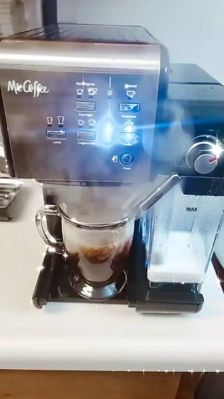 Our Mr.Coffee One-Touch Coffee House Expresso & Cappuccino Machine! Affordable and easy to clean!   | expresso machine | cappuccino maker | milk frother | nespresso |   #LTKfamily #LTKhome