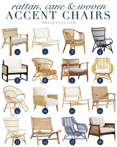 Many in Memorial Day sale! Rattan, cane and woven accent chairs — adding one or more of these is the perfect way to make a spring update!  http://liketk.it/3cnsM #liketkit @liketoknow.it #LTKhome #LTKstyletip home decor living room decor sitting room decor occasional chair seating spring decor