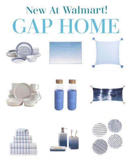 Gap home for Walmart favorites. Blue and white decor modern coastal decor.   #LTKunder50 #LTKhome #LTKstyletip