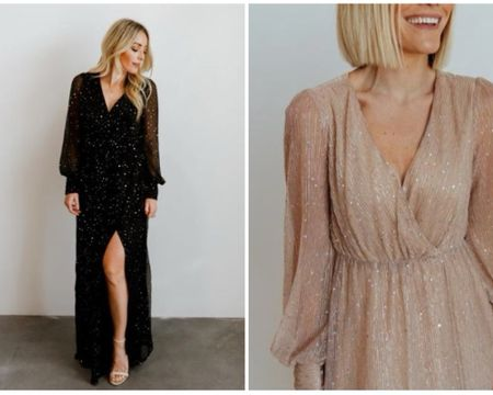 It's the sparkles for me 🤩🤩🤩  the perfect dress for an engagement photoshoot or a wedding guest dress! It comes in multiple colors but my favs are black and champagne!  @liketoknow.it http://liketk.it/374WE #liketkit #LTKunder100 #LTKwedding #LTKSeasonal