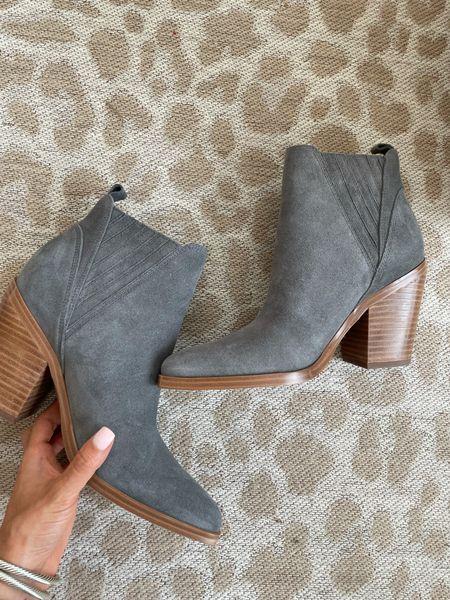 Grey booties on sale size 7   #LTKunder100 #LTKsalealert #LTKshoecrush