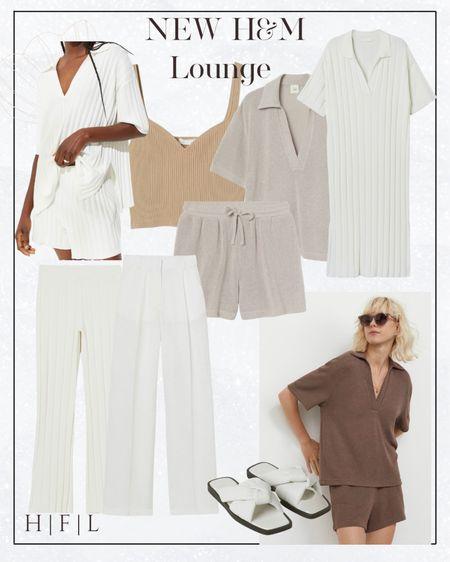 H & M new arrivals of lounge #knitset #widelegpants   #LTKSeasonal #LTKstyletip #LTKunder50