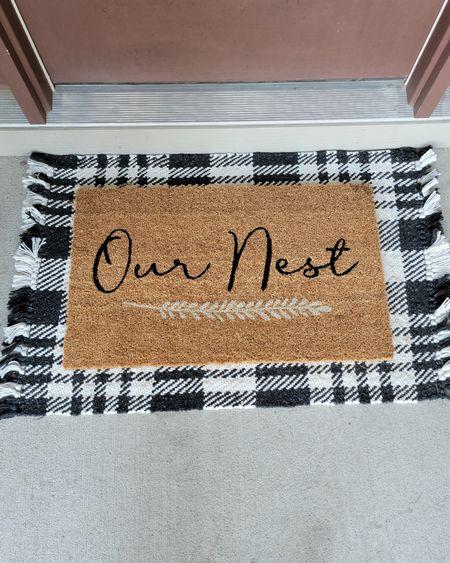 Our nest doormat http://liketk.it/3oCkf @liketoknow.it #liketkit #LTKhome