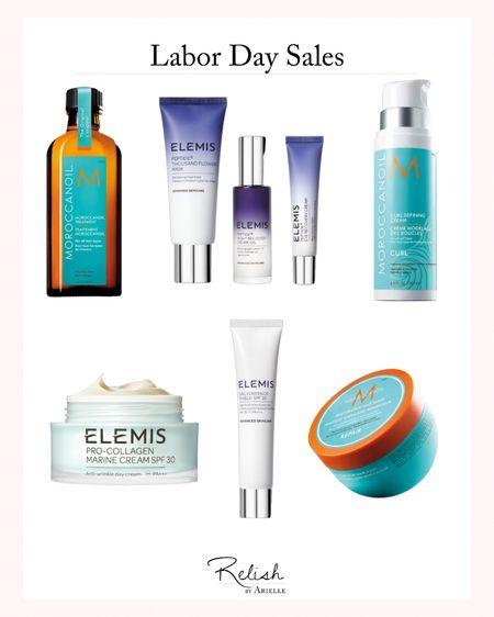 Labor Day Sales / Beauty Products, Hair Products, Hair Care, Elemis Sale, Moroccan Oil Sale   #LTKbeauty #LTKsalealert