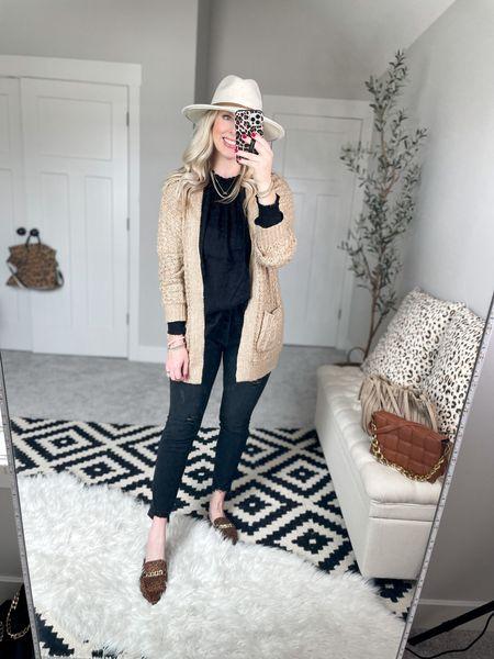 Walmart outfit Cardigan- small  Black tunic- small   #LTKstyletip #LTKunder50 #LTKSeasonal