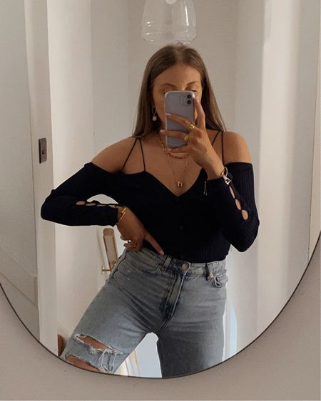 Jacquemus top use code SINEADYT10 for 10% off! Ripped jeans; cut out top, off shoulder top @liketoknow.it #liketkit http://liketk.it/3iNZA #LTKeurope #LTKstyletip #LTKsalealert