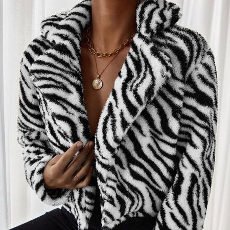 #fall #fall2021 #jackets #teddy #teddyjackets #layers #layering #zebra #prints #animal #snimalprints   #LTKunder100 #LTKGiftGuide #LTKSeasonal