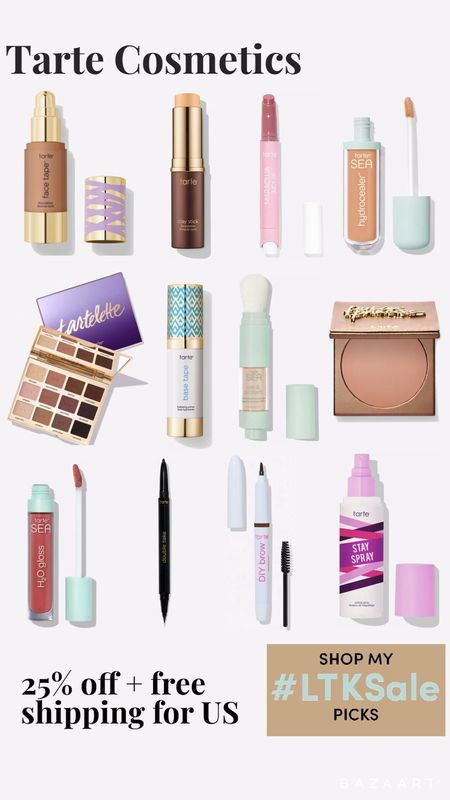 Tarte Cosmetics 25% off sitewide plus free shipping for US   #LTKSale #LTKsalealert #LTKbeauty