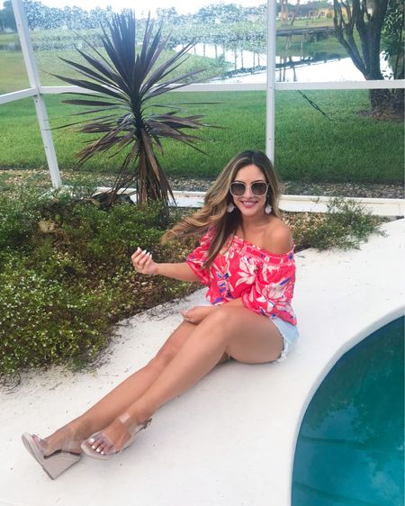 summer top, off shoulder, summer fits, summer outfits, floral top, ruffle sleeve, bell sleeve, off shoulder top, vacation, beach vacation, pool looks, resort wear, pink lily, asos, shein, styledbyjacinta, jacinta devlin   You can instantly shop my looks by following me on the LIKEtoKNOW.it shopping app @liketoknow.it #liketkit #LTKunder50 #LTKstyletip http://liketk.it/3hKLr
