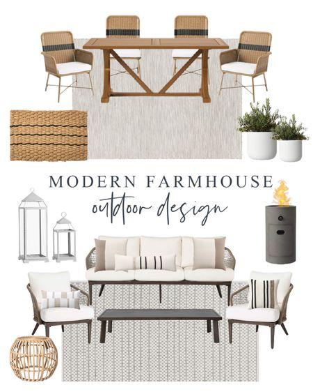 Modern Farmhouse Outdoor Furniture. Outdoor Patio Furniture. Studio McGee outdoor. Target outdoor furniture. http://liketk.it/3fs4W #liketkit @liketoknow.it #LTKhome @liketoknow.it.home