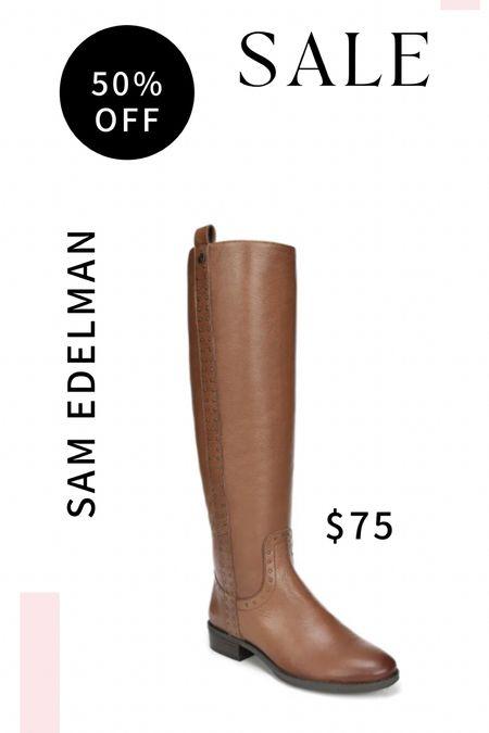 Sam Edelman boots! Best time to get boots is the off season because you get them 50% off!   #LTKunder100 #LTKshoecrush #LTKsalealert