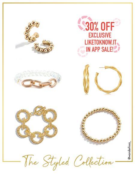 Gold jewelry picks now 30% off!  #LTKsalealert #LTKSeasonal #LTKunder50