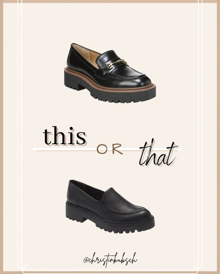 This or that- loafers  With a buckle or without?  #LTKunder100 #LTKsalealert #LTKshoecrush