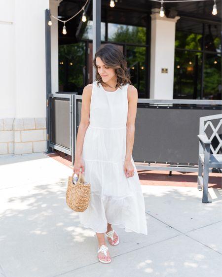 Summer white maxi dress http://liketk.it/2W8jw #liketkit @liketoknow.it #LTKunder50 #LTKstyletip