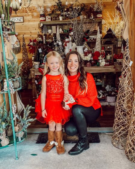 Anyone else in full blown Christmas mode!? We're putting our tree up tomorrow night & I'm SO excited! Also, please note my child in her sleeveless dress while she visited Santa... gotta love TN 😅   My sweater is under $25 & literally the most comfortable sweater I own right now! It also comes in multiple colors! Shop my daily looks by following me on the LIKEtoKNOW.it shopping app http://liketk.it/317qc #liketkit @liketoknow.it #LTKstyletip #LTKunder50 #LTKfamily @liketoknow.it.family