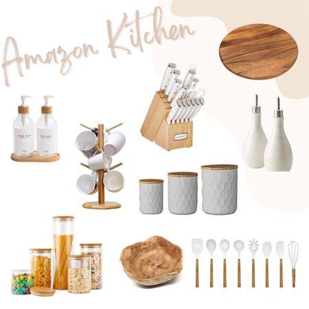 Neutral kitchen accessories & kitchen organization from Amazon!   Counter top decor   kitchen decor   kitchen organization   #LTKhome #LTKGiftGuide #LTKsalealert