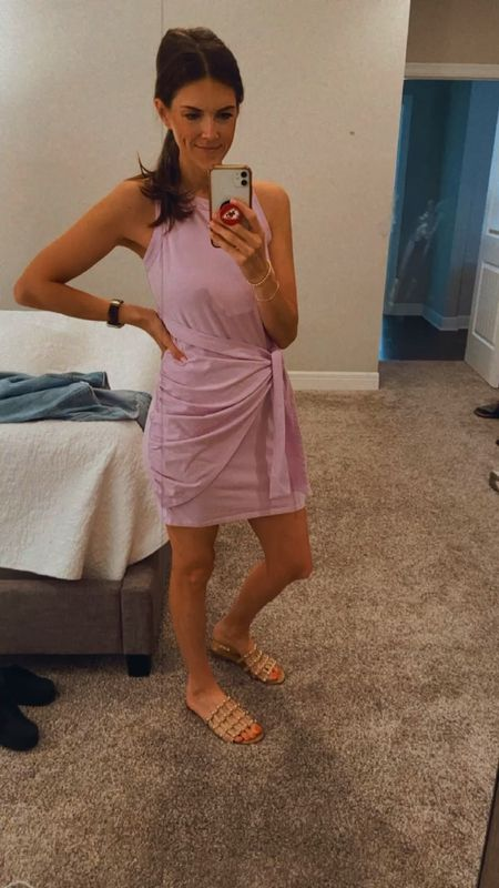 This is the best T-shirt dress! Very flattering and comfortable. Under $30!  #amazon #under30 #momstyle #tshirtdress