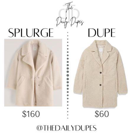 Teddy coat #thedailydupes  #LTKHoliday #LTKSeasonal