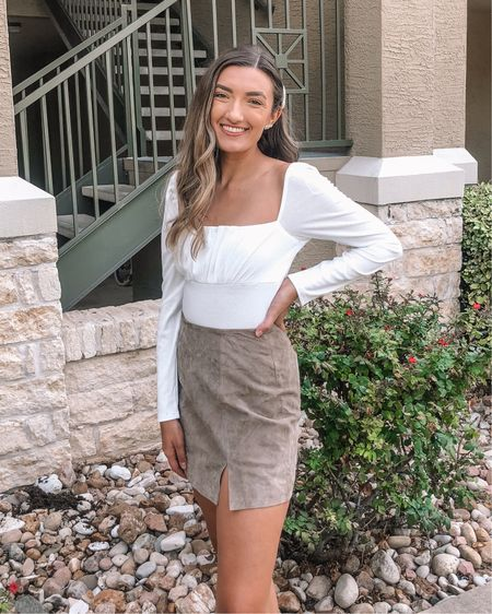 This suede skirt is absolutely perfect for fall! Can't wait to pair it with boots and sweaters 😍 http://liketk.it/2WssI #liketkit @liketoknow.it #LTKunder100 #LTKstyletip