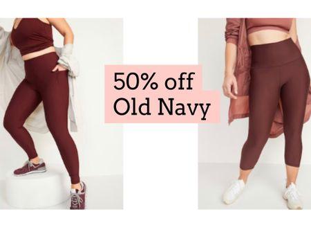 Old navy leggings 50% off   #LTKfit #LTKunder50 #LTKsalealert
