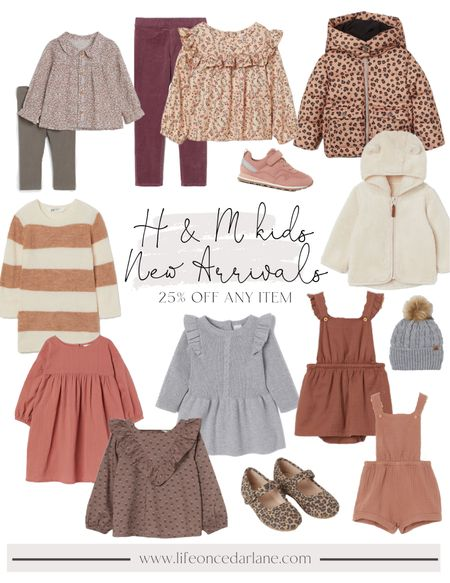 So much cuteness at H & M for girls! Fall fashion for baby girls, toddlers and tween!! Perfect for fall family photos! Also, snag 25% off any item!!  #fallfashion #fallfamilyphotos  #LTKkids #LTKsalealert #LTKSale
