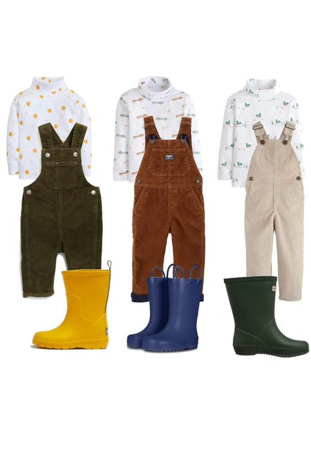 Toddler boy outfit idea for fall! I adore this brand for turtlenecks and this week they ship free with code TURTLENECK. Pair with cord overalls and rain boots!   #LTKkids #LTKstyletip #LTKbaby