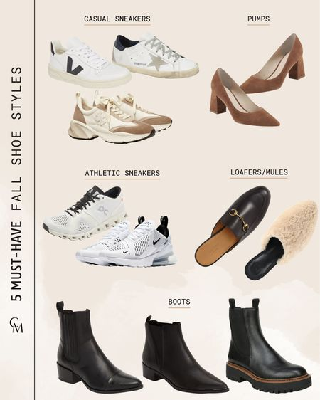 5 must-have fall shoe styles everyone should have in their closet.   #LTKSeasonal #LTKshoecrush