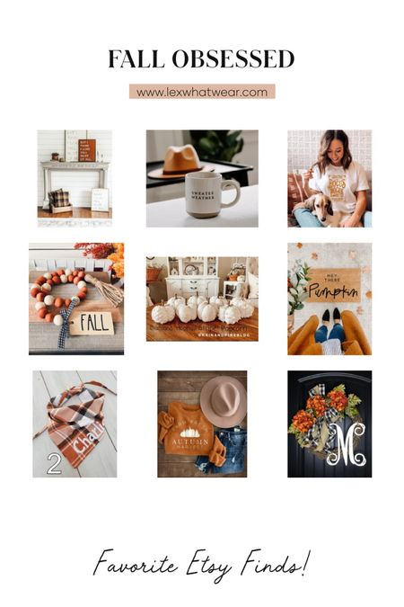 Fall Obsessed! Sharing my favorite Etsy finds!   #LTKSeasonal #LTKHoliday