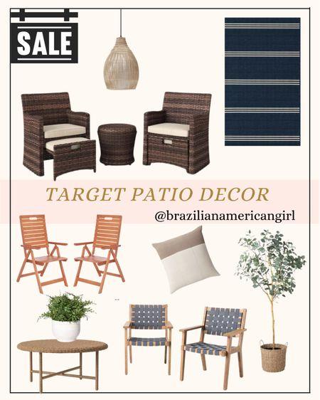 Patio Decor      #patiodecor #patiofurniture #patiosale #outdoorfurniture #target #targethome #targethomedecor #targetfinds  #LTKunder100 #LTKhome #LTKsalealert