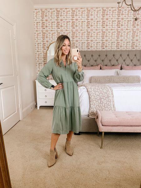 What a great dress option for Fall temps!   #LTKunder50 #LTKsalealert #LTKstyletip