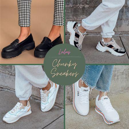 Chunky sneakers at lulus   http://liketk.it/3aq7L #liketkit @liketoknow.it #StayHomeWithLTK #LTKstyletip #LTKshoecrush
