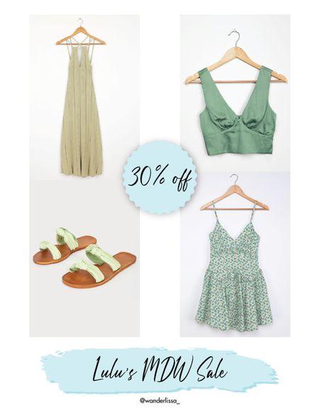 Mint green Lulus on Sale! 30% off use code HELLOSUMMER  #LTKunder50 #LTKsalealert #LTKSeasonal