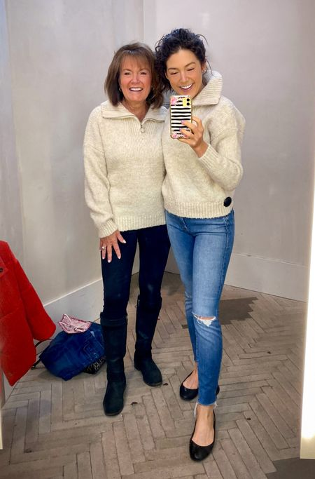 My mom and I are twins with this cute sweater from #anthropologie !! #motherdaughter #sweater   #StayHomeWithLTK #LTKstyletip #LTKFall